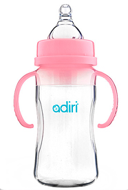Бутылочка Adiri Transitional Nurser Pink, 270 мл.