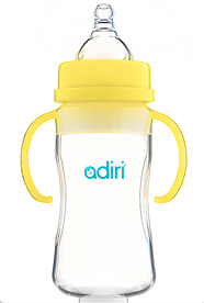 Бутылочка Adiri Transitional Nurser Yellow, 270 мл.